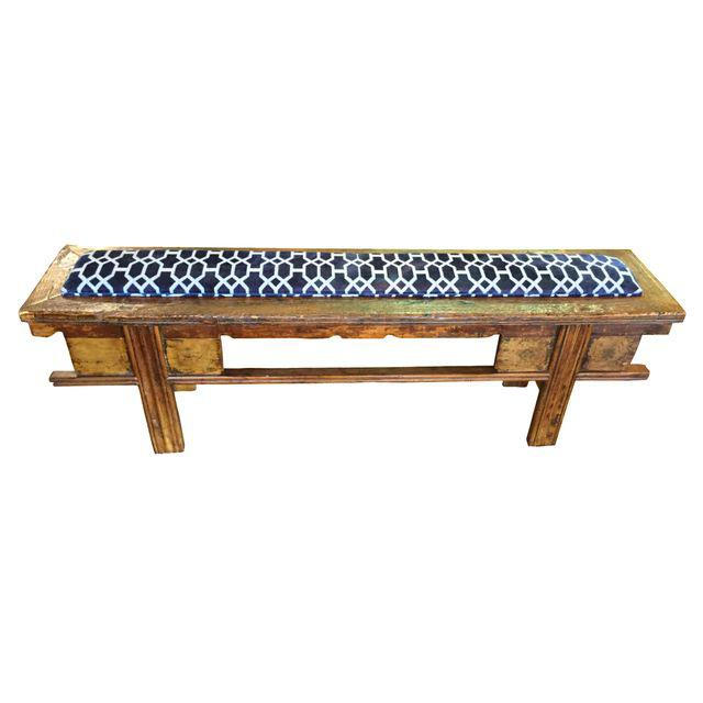 Upholstered Antique Chinese Bench Studio Ferro